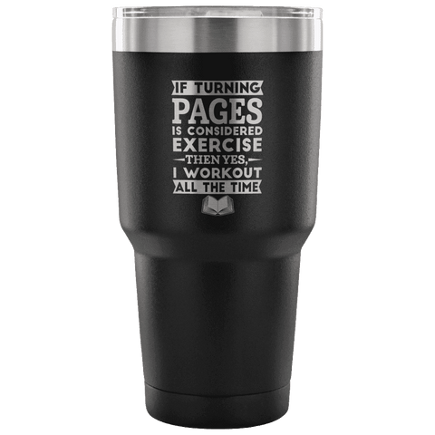 Bookish exercise Travel Mug