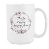 """My happy place""15oz white mug"