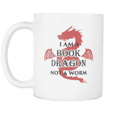 I Am A Book Dragon Not A Worm Mug - For reading addicts - Mug - 2