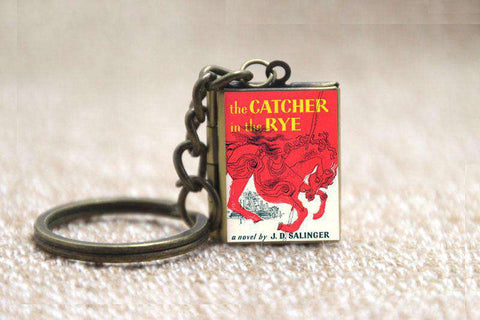 Catcher In The Rye Book Cover Locket Necklace Keyring Fra