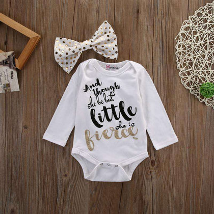 Baby girl Little Prince Romper with bow - Gifts For Reading Addicts