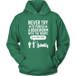 """Punish A Bookworm"" Hoodie - Gifts For Reading Addicts"
