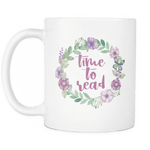 """Time to read""white 11oz mug - Gifts For Reading Addicts"