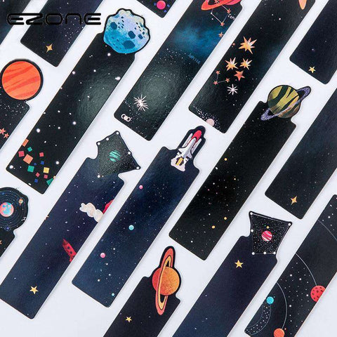 30Pcs/Set Galaxy Bookmarks - Gifts For Reading Addicts