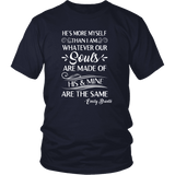 """He's more myself than i am"" Unisex T-Shirt - Gifts For Reading Addicts"