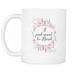 'want to read'11oz white mug - Gifts For Reading Addicts
