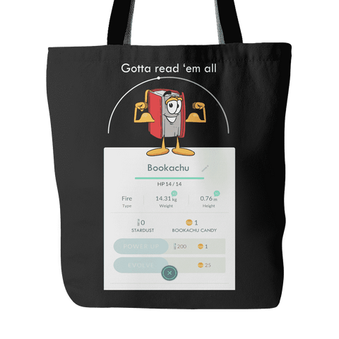 Bookachu Tote Bag - Gifts For Reading Addicts