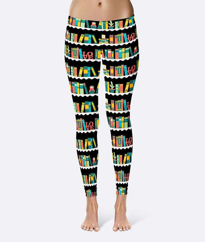 Bookshelves Leggings - Gifts For Reading Addicts