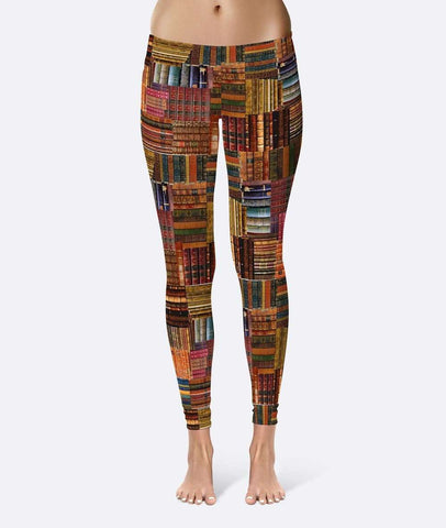 Book Spines Leggings - Gifts For Reading Addicts