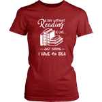 """a day without"" Women's Fitted T-shirt - Gifts For Reading Addicts"