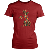 """UK Bookish Map"" Women's Fitted T-shirt - Gifts For Reading Addicts"
