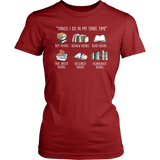 """Things I Do In My Spare Time"" Women's Fitted T-shirt - Gifts For Reading Addicts"