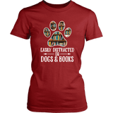 """Dogs and books"" Women's Tank Top - Gifts For Reading Addicts"