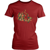 """Canada Bookish Map"" Women's Fitted T-shirt"
