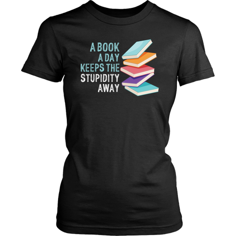 """A Book A Day"" Women's Fitted T-shirt - Gifts For Reading Addicts"