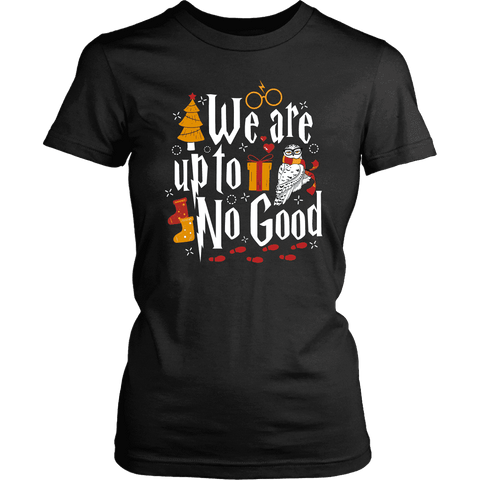 """We Are Up To No Good "" Women's Fitted T-shirt - Gifts For Reading Addicts"