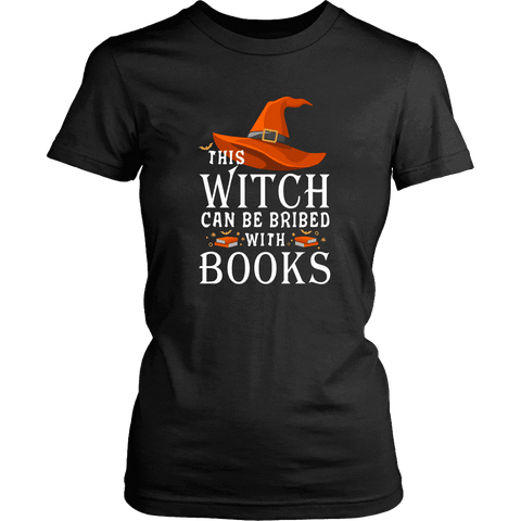 """Bribed With Books"" Women's Fitted T-shirt - Gifts For Reading Addicts"