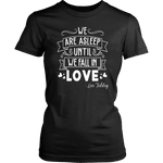 """We fall in love"" Women's Fitted T-shirt - Gifts For Reading Addicts"