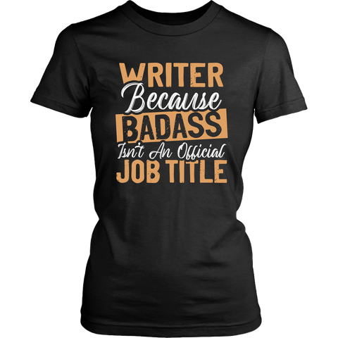 """badass isn't an official job title"" Women's Fitted T-shirt - Gifts For Reading Addicts"