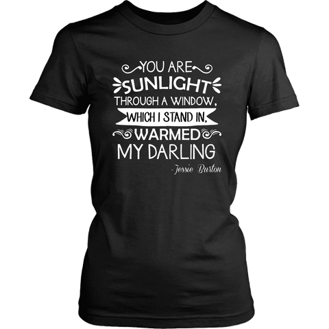 """You are sunlight"" Women's Fitted T-shirt - Gifts For Reading Addicts"