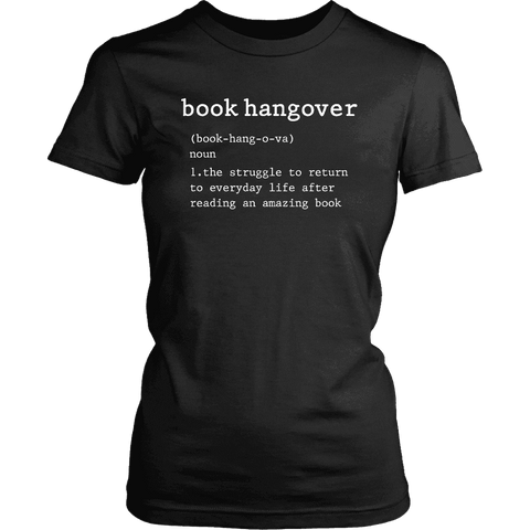 """Book hangover"" Women's Fitted T-shirt - Gifts For Reading Addicts"