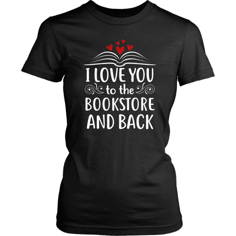 """I love you"" Women's Fitted T-shirt - Gifts For Reading Addicts"