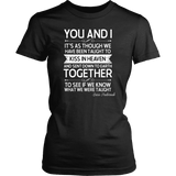 """You and i"" Women's Fitted T-shirt - Gifts For Reading Addicts"