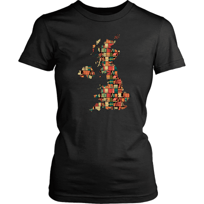 """UK Bookish Map"" Women's Fitted T-shirt"