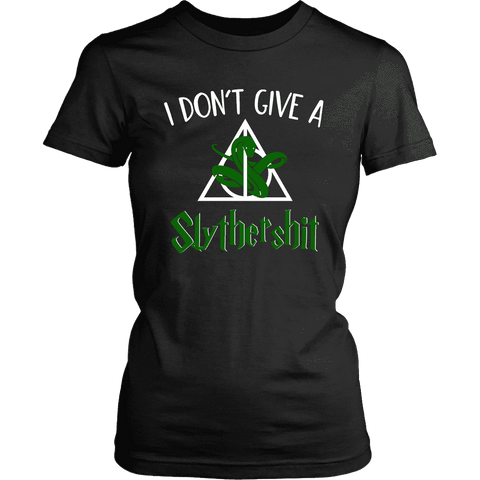 """i Don't Give A Slythershit"" Women's Fitted T-shirt - Gifts For Reading Addicts"