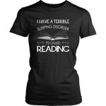 """Sleeping disorder"" Women's Fitted T-shirt - Gifts For Reading Addicts"
