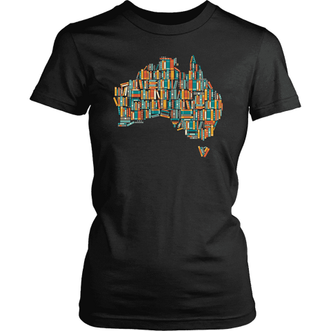 """Australia Bookish Map"" Women's Fitted T-shirt"
