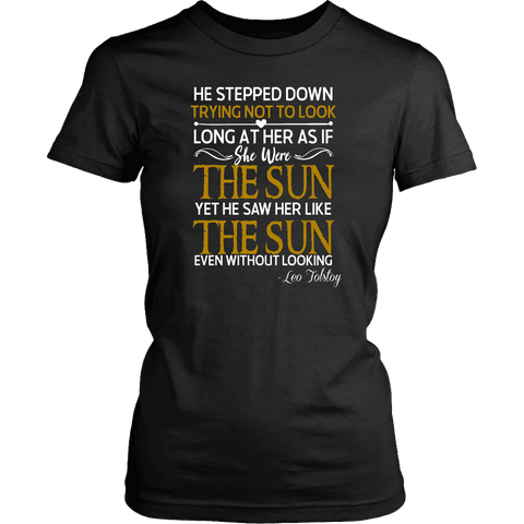 """As if she were the sun"" Women's Fitted T-shirt"