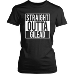 """Straight outta gilead"" Women's Fitted T-shirt - Gifts For Reading Addicts"