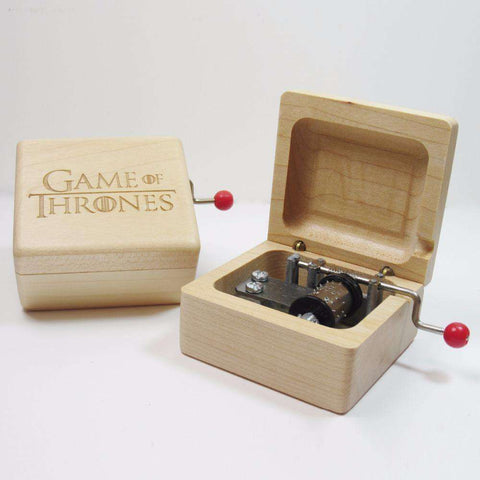 Wooden Game of Thrones music box special Handmade souvenir gift-For Reading Addicts