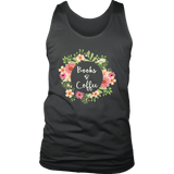 """Books & Coffee"" Men's Tank Top - Gifts For Reading Addicts"