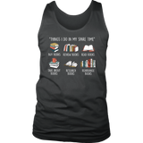 """Things I Do In My Spare Time"" Men's Tank Top - Gifts For Reading Addicts"