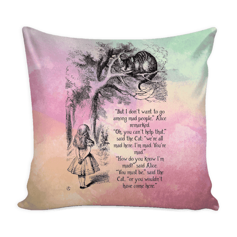 Alice in Wonderland Pillow case-For Reading Addicts