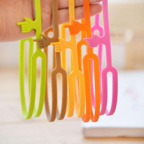 Cute Silicone Finger Pointing Bookmark - Gifts For Reading Addicts