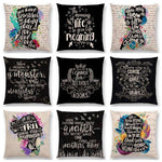 Bookish Quotes Cushion Covers, Color - a022519-For Reading Addicts