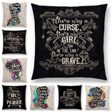 Bookish Quotes Cushion Covers, Color - a022511-For Reading Addicts
