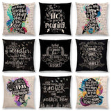 Bookish Quotes Cushion Covers, Color - a022505-For Reading Addicts