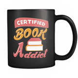 Certified Book Addict Black Mug - Gifts For Reading Addicts