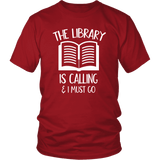 """The library"" Unisex T-Shirt - Gifts For Reading Addicts"
