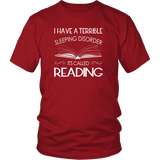 """Sleeping disorder"" Unisex T-Shirt - Gifts For Reading Addicts"