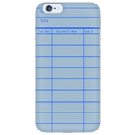 Library Card Phone Case Blue-For Reading Addicts