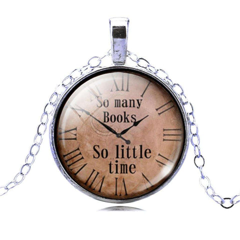 So Many Books So Little Time necklace-For Reading Addicts