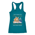 """I Read Books,I Drink Coffee"" Women's Tank Top - Gifts For Reading Addicts"