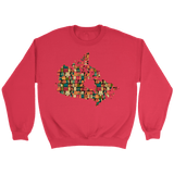 """Canada Bookish Map"" Sweatshirt"