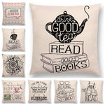 Bookish Quotes Cushion Covers, Color - a022812-For Reading Addicts