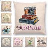 Bookish Quotes Cushion Covers, Color - a022804-For Reading Addicts
